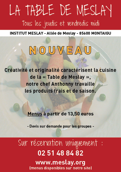 La table de Meslay - Flyer